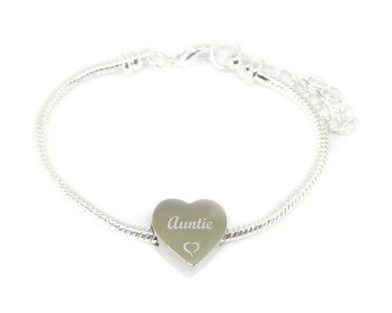 Personalised Engraved Charm Bracelet