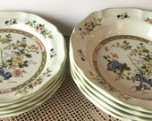 Mikasa quot Imari Bouquet quot (4) SALAD Plates and (4) SOUP BOELS