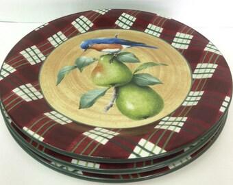 Lenox winter greetings etsy lenox winter greetings everyday tartan eastern blue bird 3 dinner plates m4hsunfo