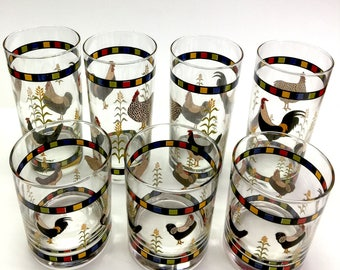 Sakura Country Quartet (7) Glasses - New condition.