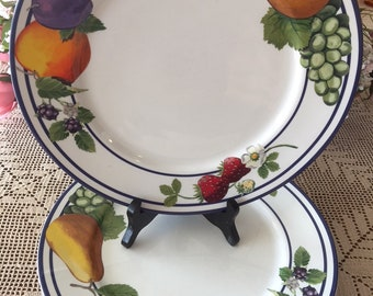 "Lenox ""Fruit Groves"" Casual Images (4) DINNER PLATES"
