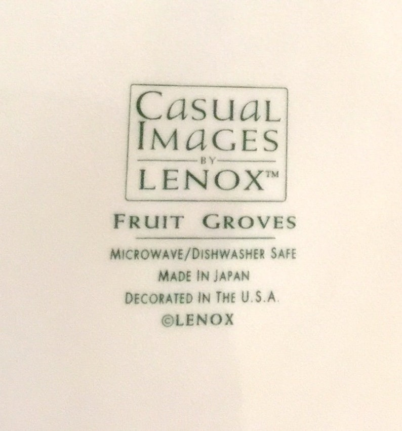 Lenox Fruit Groves Casual Images DINNER PLATES 4