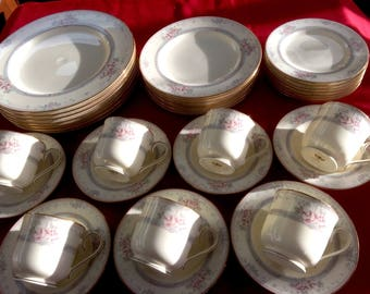 """Noritake Ivory """"Magnificence"""" (7) 5-Piece Place Settings + More"""