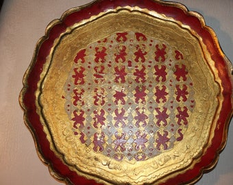 Wooden design plate from Italy