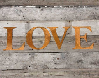 Vintage, Rusted, Metal Letters, Home Decor, Letters,House warming Gift, Gift, Rustic Kitchen Decor, Office Decor, Rustic Wall Decor, Kitchen