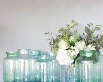 Hungarian Vintage Vase, Vintage Glass Vase, Glass Vase, Glass Flower Vase, Hand Blown Glass Vase, Gift, Wedding Gift, Housewarming Gift,