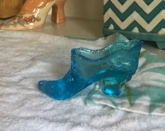 369d069e73c Vintage glass shoe