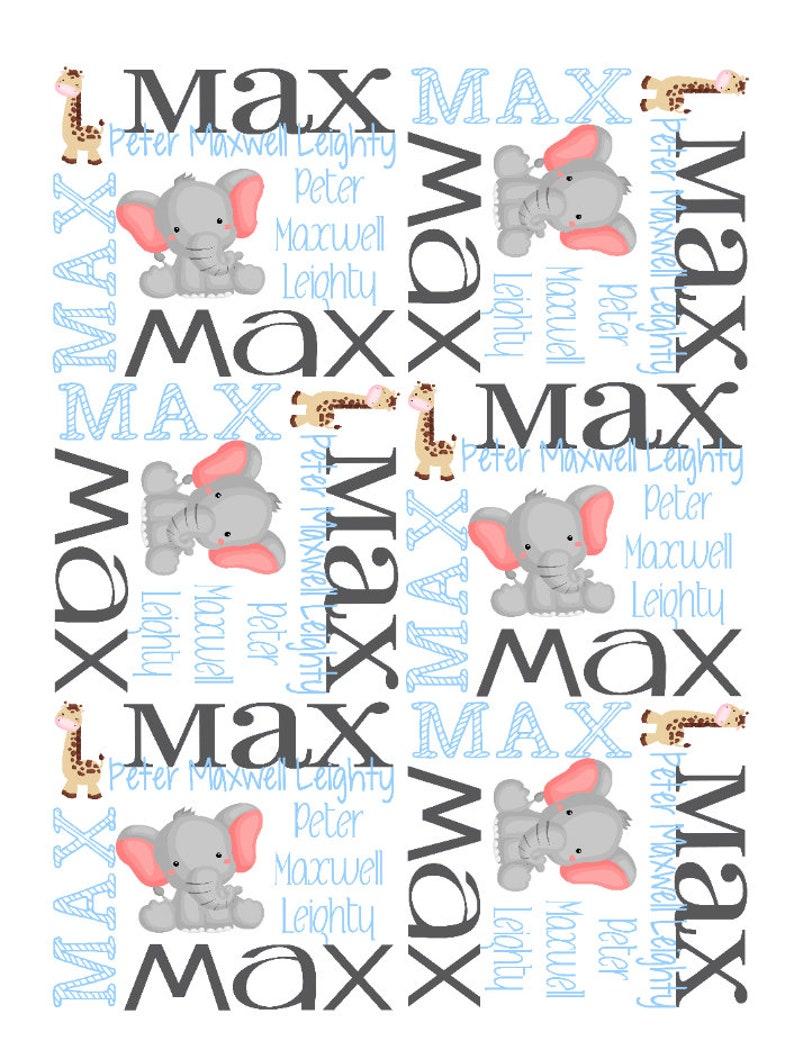 Animals Baby Blanket Elephant Nursery Bedding Baby Zoo Name Blanket Custom Baby Blanket Personalized Baby Blanket Baby Blanket