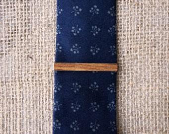 Skinny Tie Clip in Walnut