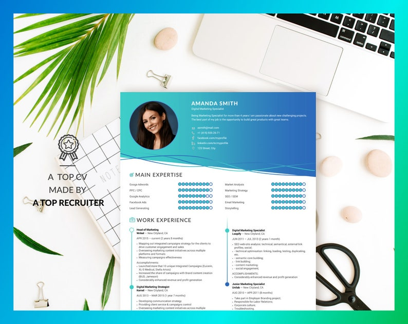 Resume Design Template CV Professional