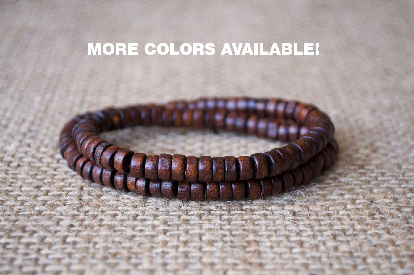 mens wooden beads bracelet wooden bracelet men unisex bead. Black Bedroom Furniture Sets. Home Design Ideas