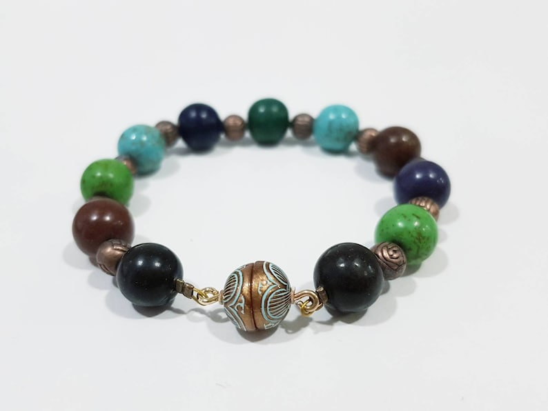 MA'AYAN  Howlite bead bracelet  colourful bead design  image 0