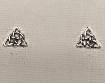 Trinity Knot Stud Earrings Celtic