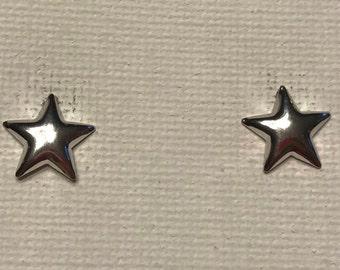 Star Stud Earrings Solid Shape Sky Stars