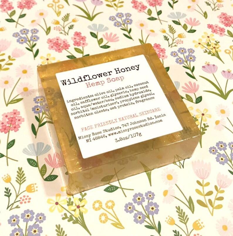 wildflower honey soap hemp soap soap made in michigan image 0
