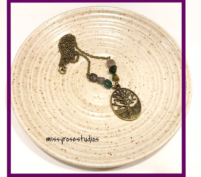 bronze tree of life necklace handmade michigan made products image 0
