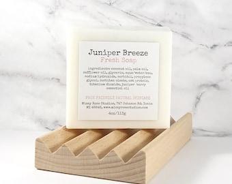 juniper berry soap bar   juniper essential oil soap   michigan made   skincare for men   small holiday gift   soap and soap dish