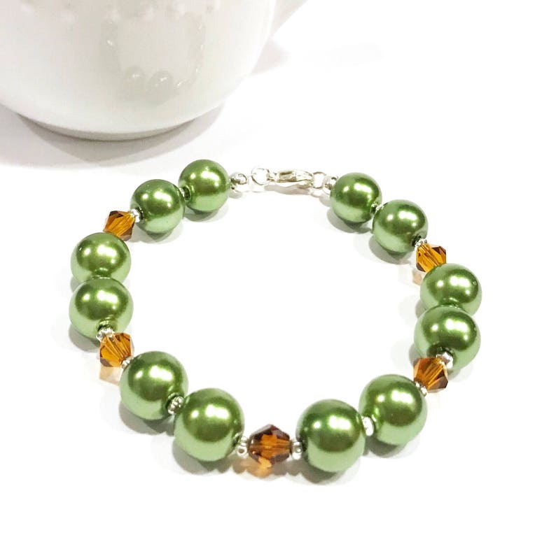 jewelry for sale crystal and pearl bracelet glass pearl bracelet green bead bracelet glass pearl jewelry