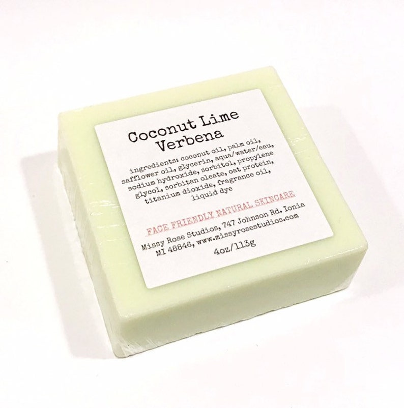 Coconut Lime Verbena Soap Handmade image 0