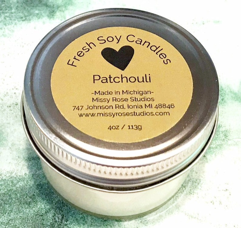 patchouli candle soy candles handmade gifts for hippie men image 0