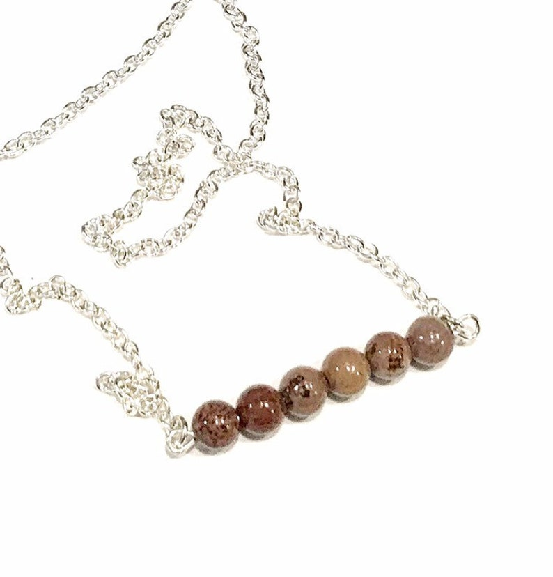 coffee bean jasper necklace brown jasper necklace brown image 0