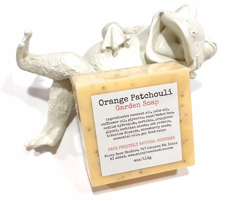 orange patchouli soap handmade michigan made soap garden image 0