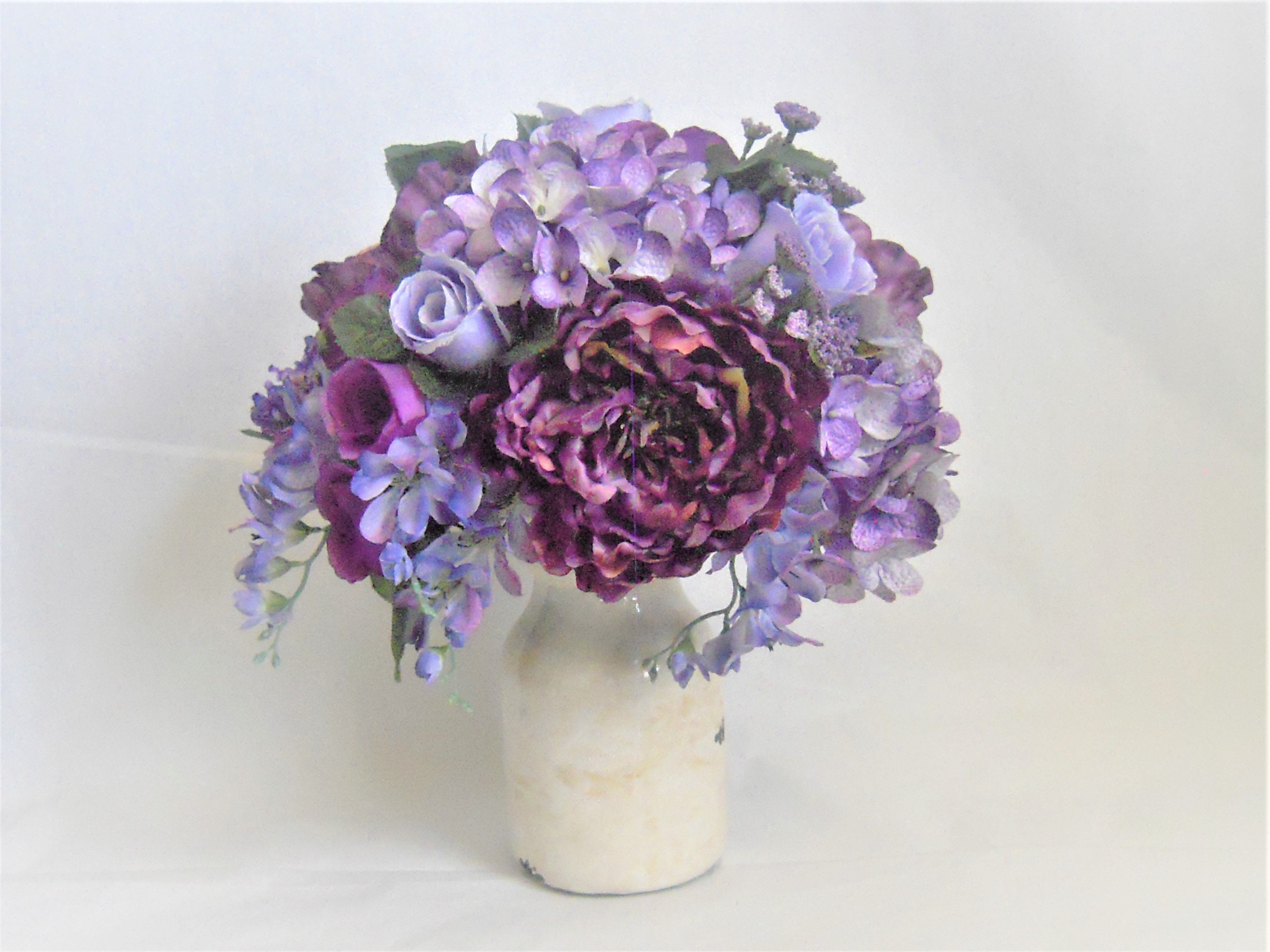 Purple Wedding Centerpiece Purple Home Decor Purple Silk Etsy