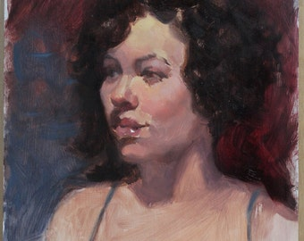 Oil Portrait Study Painting – Female Study 3