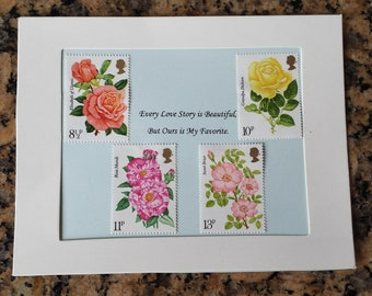 Every Love Story rose postage stamps