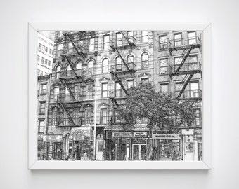 New York Print, New York Wall Print, New York Print, New York Drawing, New York Skyline, New York Poster,  Artwork