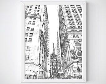 New York Wall Art, New York City Printable, New York Art, New York Decor, New York City SKyline, Instant Download Printable, New York Print