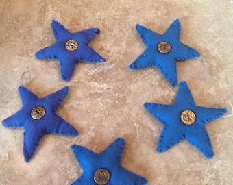 Star felt ornaments