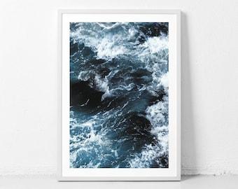 Ocean photo, ocean prints, ocean photography, ocean art, sea, ocean poster, ocean wave, ocean wall art, ocean prints, sea poster, blue ocean