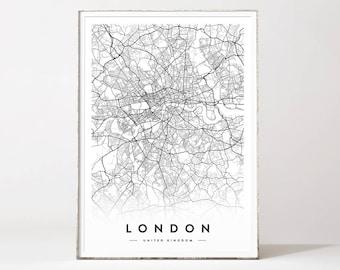 London Map Etsy