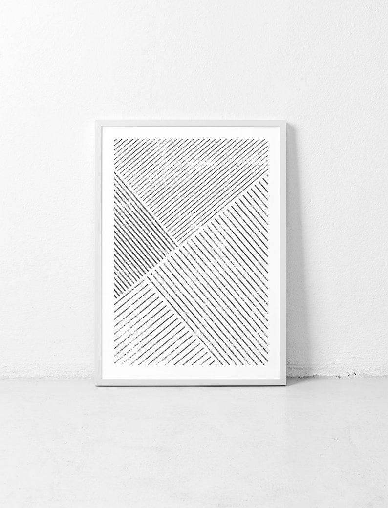 Minimalist wall art affiche scandinave geometric art image 0