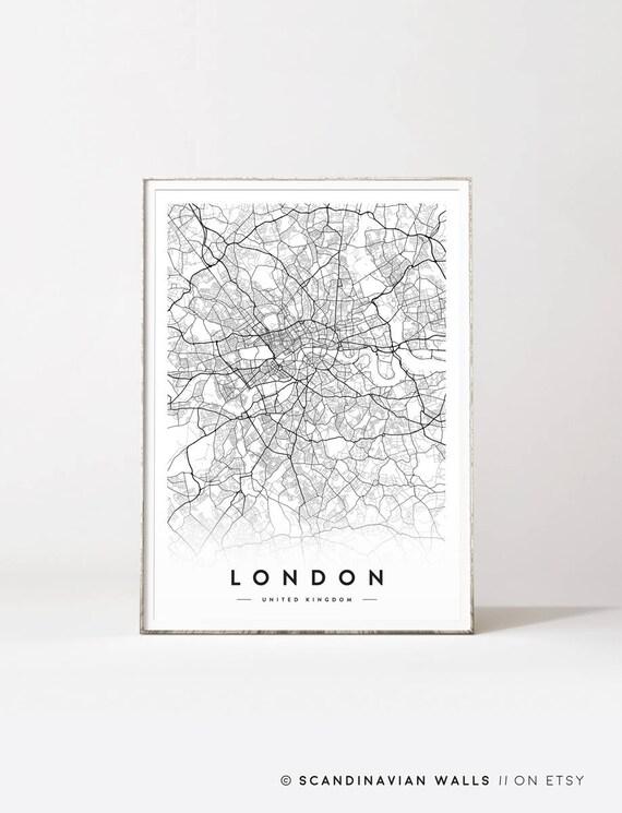 4 CUSCINO PERSONALIZZATO MAPPA ARTWORK SOUVENIR LONDRA LONDON INGHILTERRA