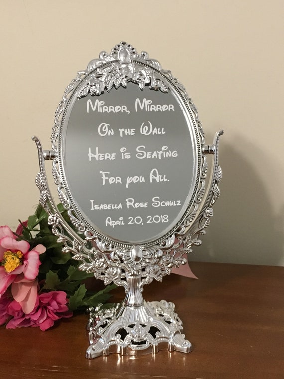 Mirror With Decal Inscription Mirror Mirror On The Wall Here Etsy