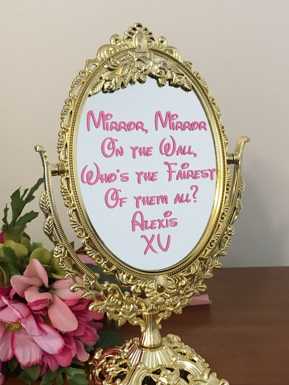 Mirror With Decal Inscription Mirror Mirror On The Wall Etsy