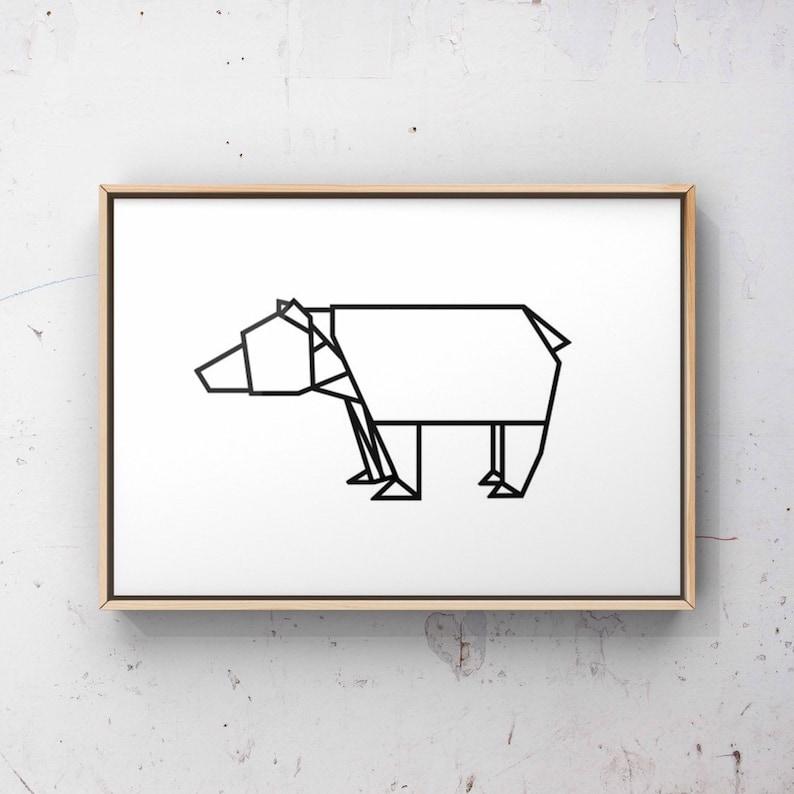 Incredible Printable Origami Bear Print Line Drawing Print Ursa Minor Etsy Wiring 101 Olytiaxxcnl