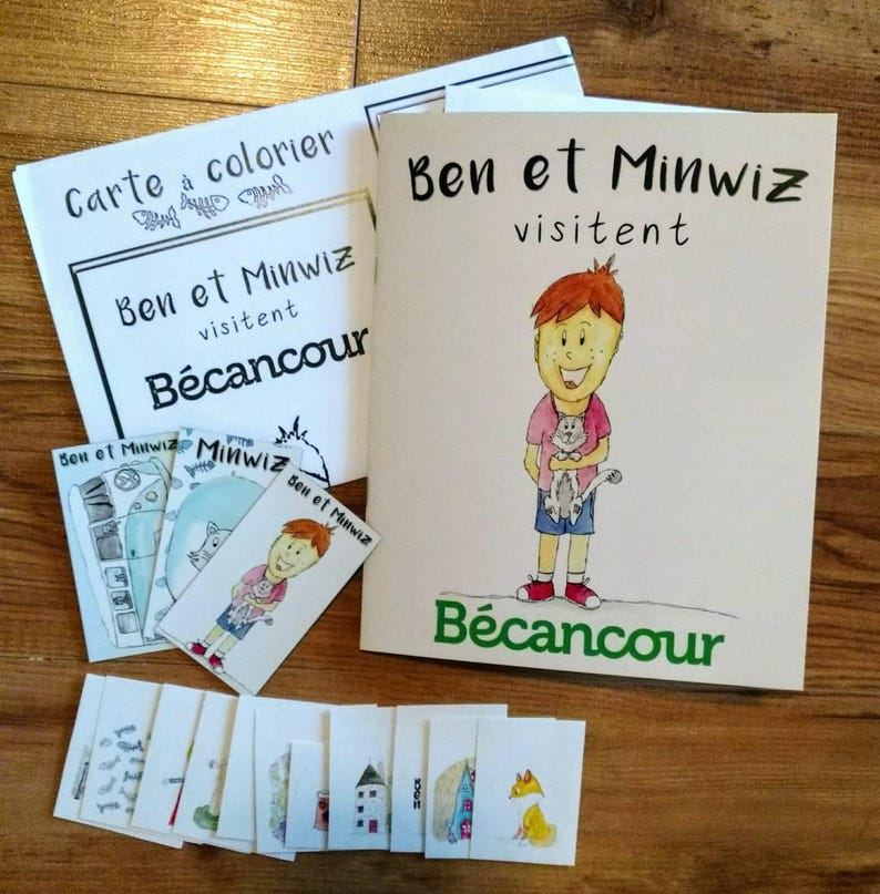 Gift Set Children's Tourist Tale Ben and Minwiz visit image 0