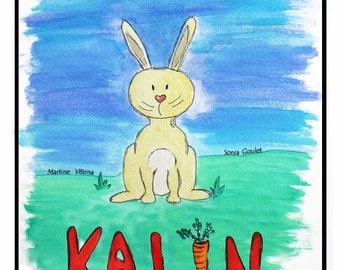 Tale of Kalin on the difference-child's book, child Christmas gift, reading, rabbit