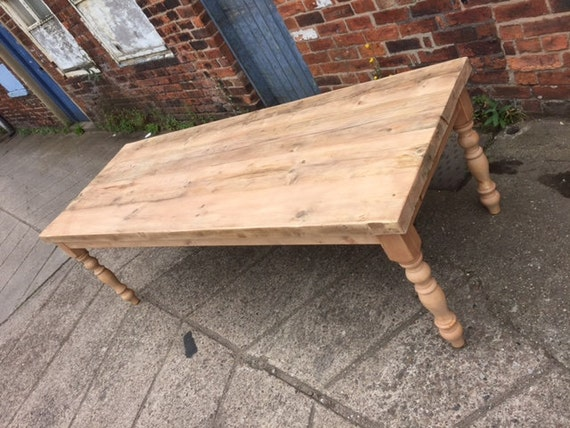 Peachy Large 7 Foot Light Oak Reclaimed Wood Farmhouse Dining Table Rustic Made To Measure Any Size Turned Or Tapered Legs Painted Or Stained Pabps2019 Chair Design Images Pabps2019Com