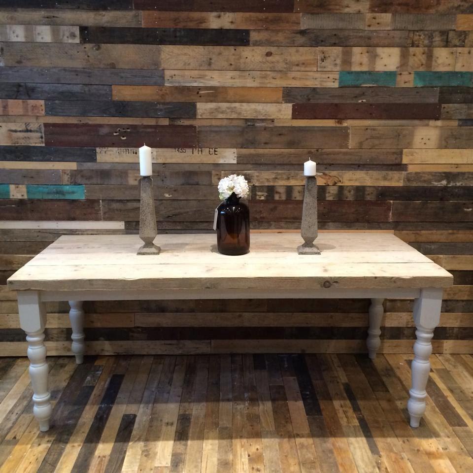 table manger ferme avec pais plateau en bois r cup r. Black Bedroom Furniture Sets. Home Design Ideas