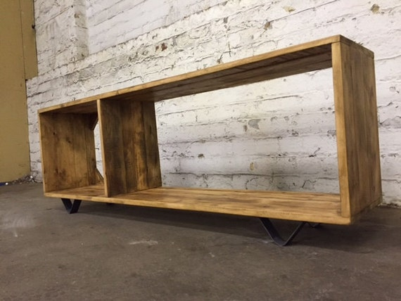 Admirable Modular Reclaimed Wood Tv Unit Made To Measure Low Sideboard Vintage Industrial Media Stand Coffee Table Bookshelf Metal Legs Modern Download Free Architecture Designs Grimeyleaguecom