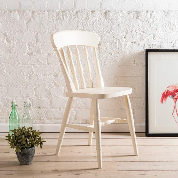 Chaises de salle à manger de ferme peintes dans n'importe quelle couleur de Farrow et de boule. Chaise en bois dur solide avec dos de siège de latte