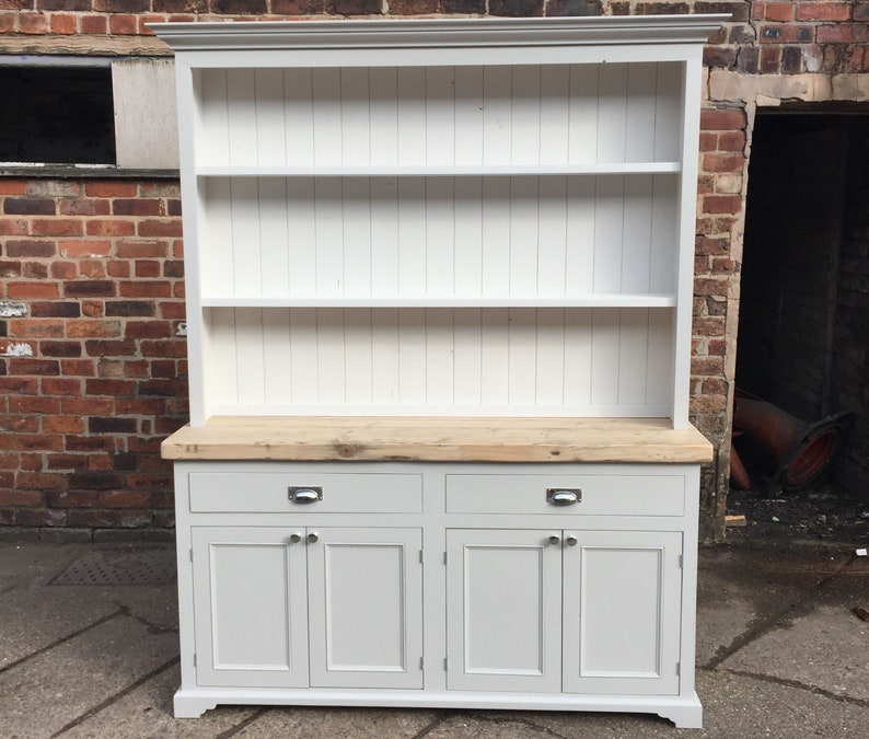 Large Shaker Style Welsh Dresser Handmade Solid Wood Painted Etsy