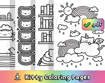 Kitty Coloring Pages to Download & Print (7 Pages)