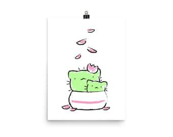 Cactus Cats Poster (Printful)