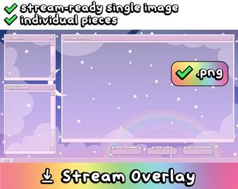 Stream Layout Digital Download: Dreamy Night Sky