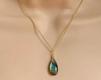Polished Original Rhodium Plated  2 Pcs DG068-PR-LB Labradorite Gemstone Pendant Jewelry Craft Supplies